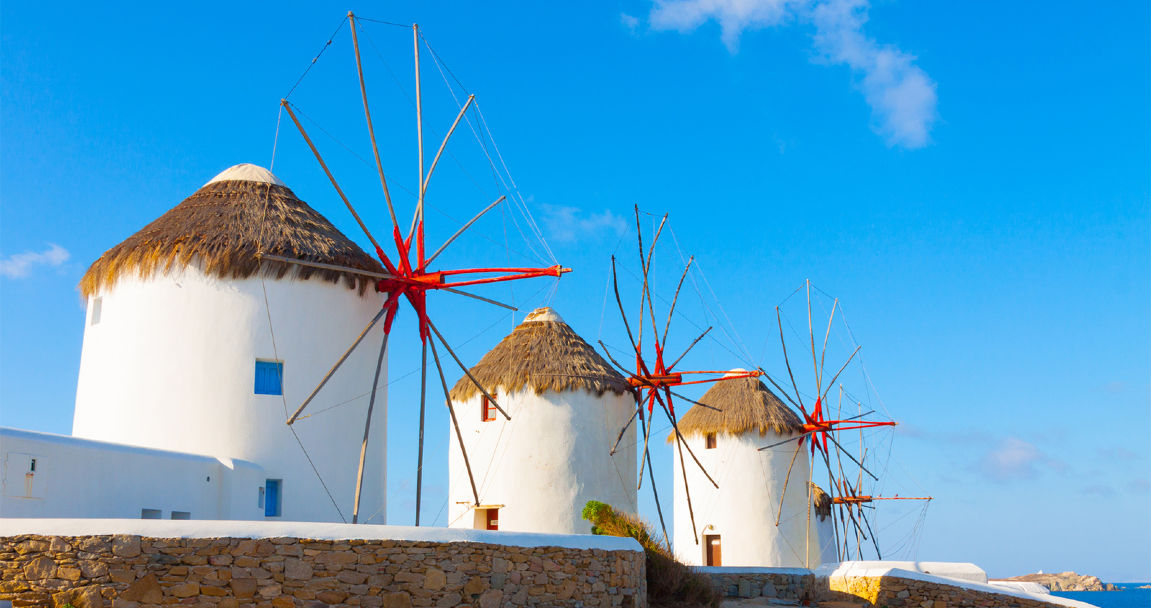 Island hoping in Cyclades…. visiting islands scattered over the deep blue waters of the central Aegean